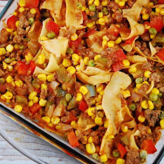 Ground Beef and Noodle Casserole.