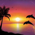 3D Dolphins HD Live Wallpaper icon