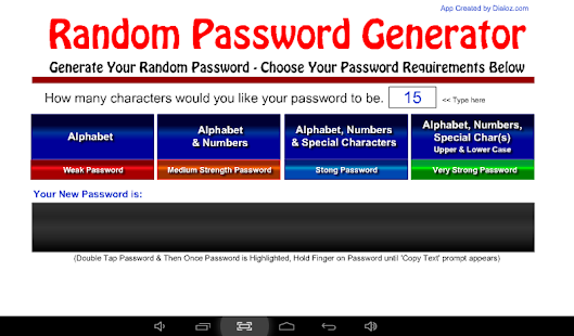 Random Password Generator- screenshot thumbnail