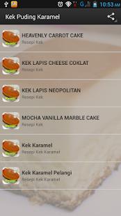 Kek Puding Karamel - náhled