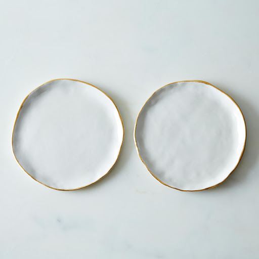 Gold Rimmed Small Plates