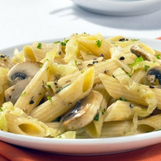 Barilla® Whole Grain Penne with Cabbage & Mushrooms.