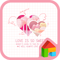 love is so sweet dodol theme icon