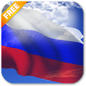 3D Russia Flag Live Wallpaper