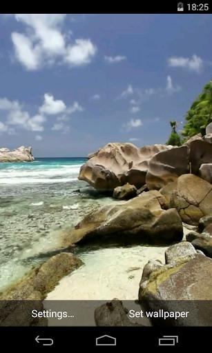 Beautiful beach Video LWP