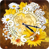 Daisy Sun Flower Clock Widget