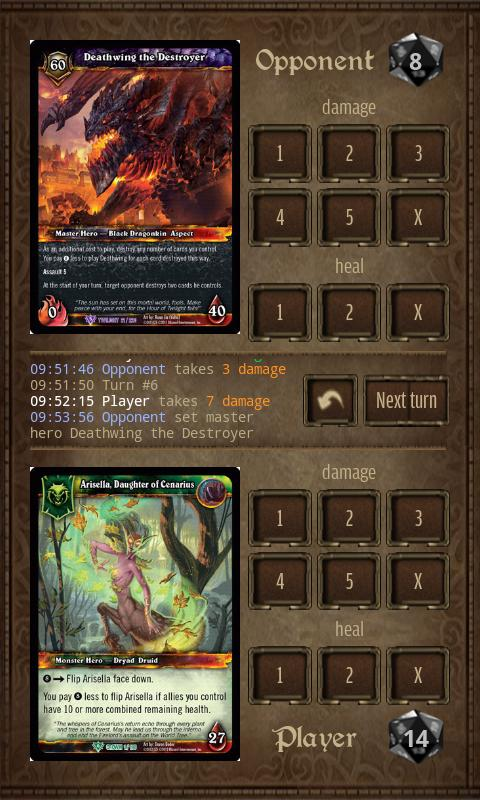 WoW TCG Damage - screenshot
