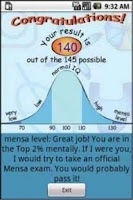 Screenshot of IQ Test Donate