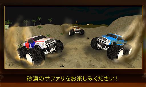 4x4の砂漠オフロードスタントトラック