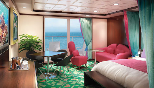 Norwegian-Jewel-stateroom-Penthouse-Large-Balcony-SE - You'll love the great views from Norwegian Jewel's Penthouse balcony, as well as the butler and concierge services.
