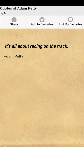 Quotes of Adam Petty