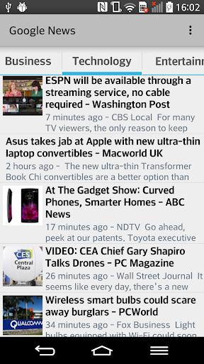 GNews Google News RSS Reader