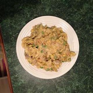 Yummy Pork Noodle Casserole.