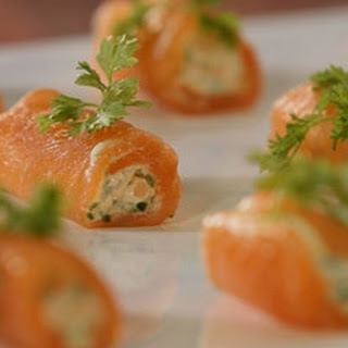 Smoked Salmon And Crème Fraiche Roulade.