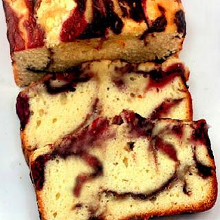 Double Berry Ribbon/Swirl Yogurt Pound 'like' Cake