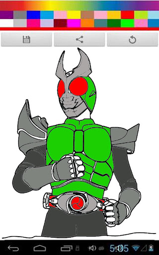 Coloring Kamen Rider Kids