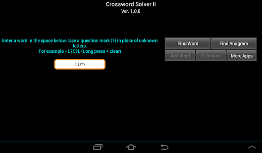 Crossword Solver II- screenshot thumbnail
