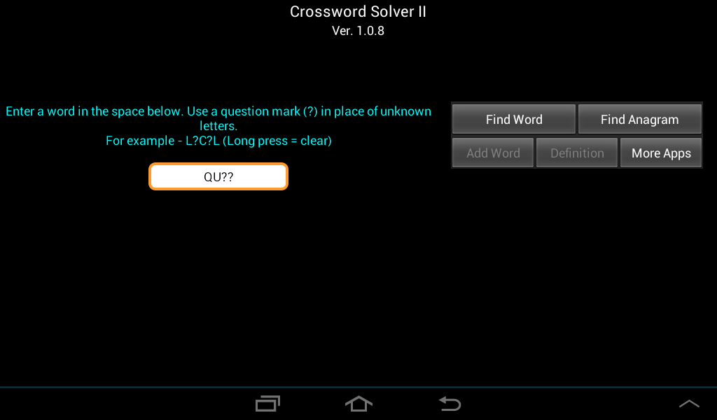 Crossword Solver II- screenshot