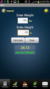 FitCal - Fitness Calculators - screenshot thumbnail