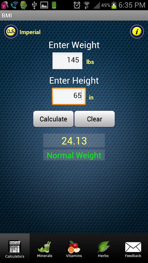 FitCal - Fitness Calculators- screenshot