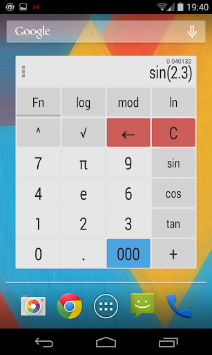 Calculator Widget Themes