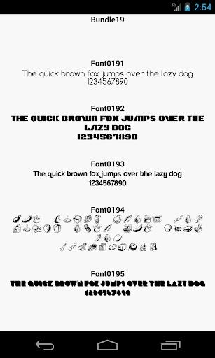 Fonts for FlipFont 19