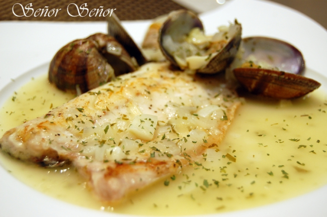 Sea Bass with Clam Sauce Recipe