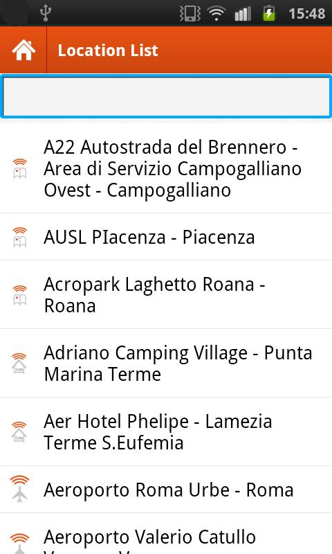 Guglielmo HotSpot Finder- screenshot