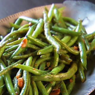 Ginger Garlic Glazed Green Beans.