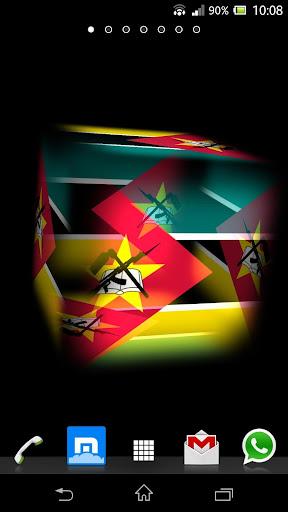 3D Mozambique Cube Flag LWP