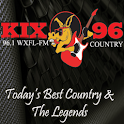 WXFL FM Kix 96 Country Radio logo