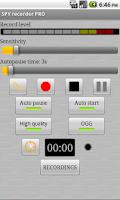 Screenshot of SPY recorder