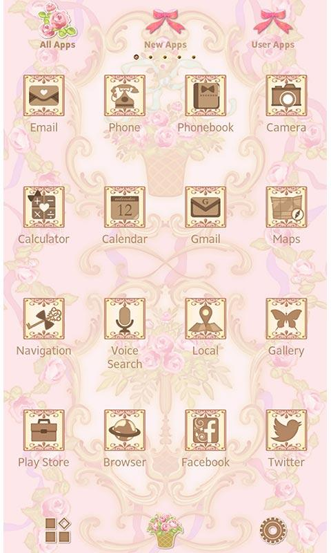 Classic Wallpaper Rococo Rose- screenshot