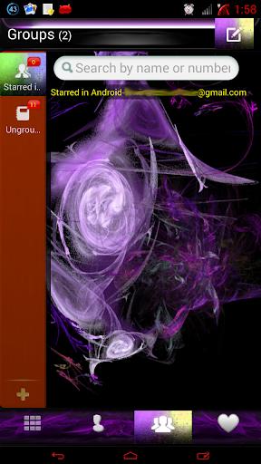 【免費個人化App】紫色火焰GO联系人-APP點子