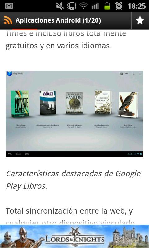 Aplicaciones android- screenshot