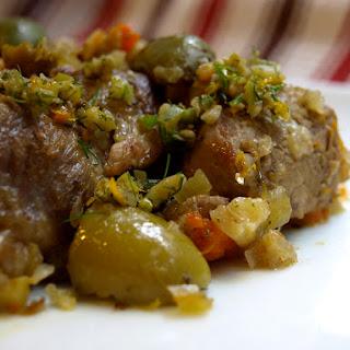 Pork Stew with Fennel, Orange, and Olives.