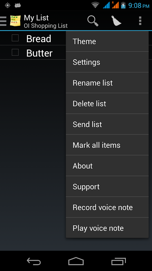 OI Voice Notes- screenshot