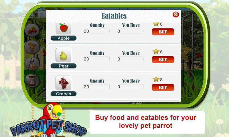 Pet Parrot - 2D Pet Simulator- screenshot