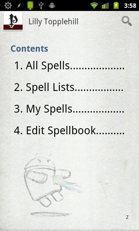 Spellbook - Pathfinder - screenshot