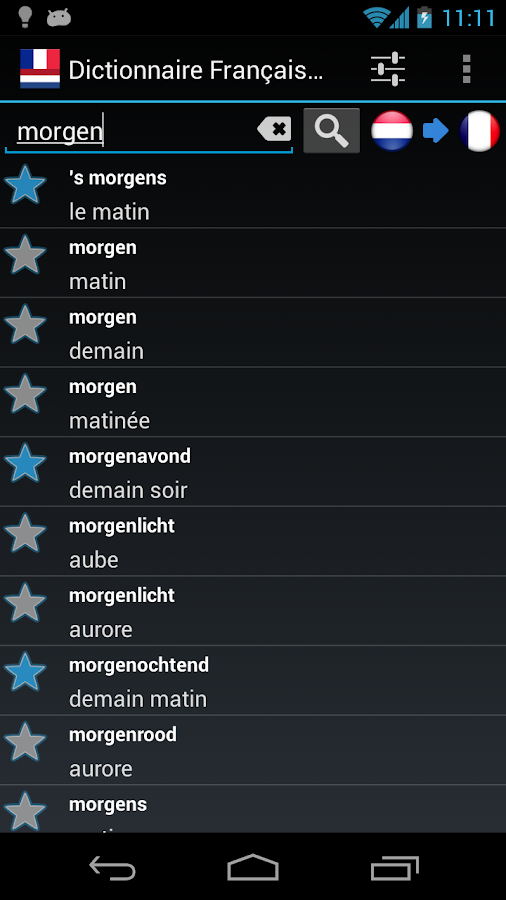Offline French Dutch Dict. - screenshot