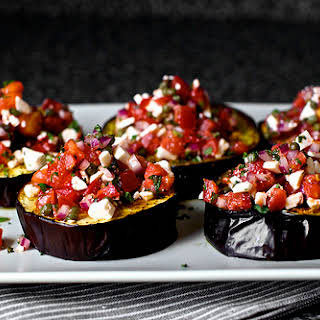 Roasted Eggplant with Ricotta and Mint.