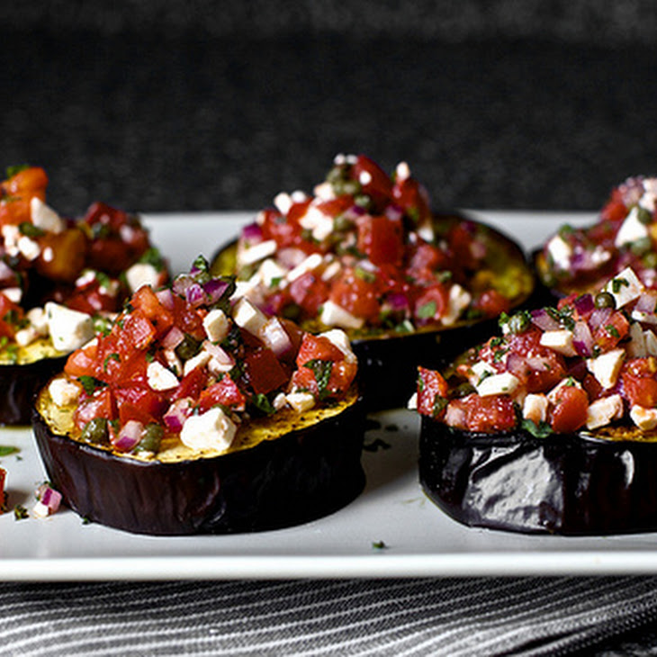 Roasted Eggplant with Ricotta and Mint Recipe