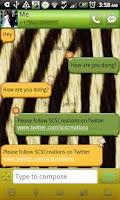 Screenshot of GO SMS - Safari