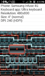 Techno Tron RB Keyboard Skin - screenshot thumbnail