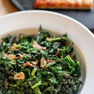 Fiery Kale with Garlic and Olive Oil.