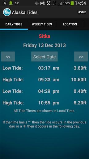 Alaska Tide Times