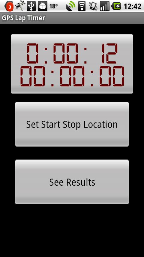 GPS Lap Timer - screenshot