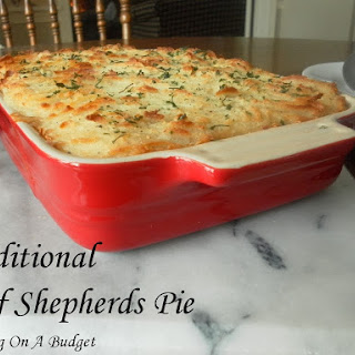 Traditional Beef Shepherds Pie.