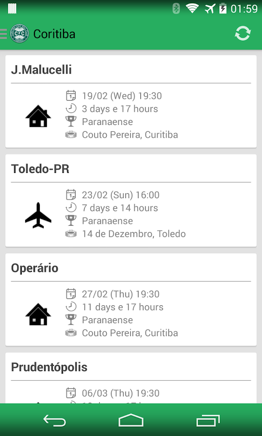 Coritiba Widget - screenshot