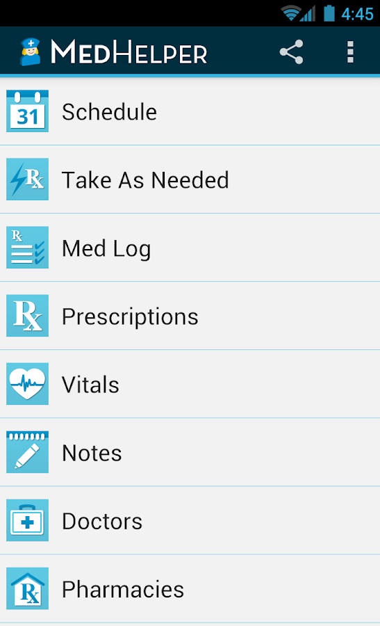 Med Helper Pill Reminder- screenshot